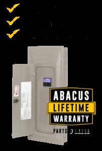 Abacus Electrical Panel Lifetime Warranty